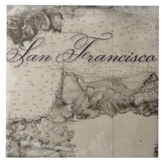 1859 San Francisco Bay Map Ceramic Tile