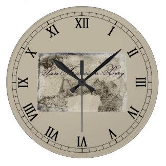 1859 San Francisco Bay Map Clocks