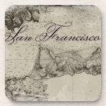 1859 San Francisco Bay Map Coasters