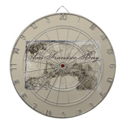 1859 San Francisco Bay Map Dart Boards