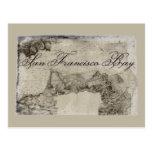 1859 San Francisco Bay Map Postcard