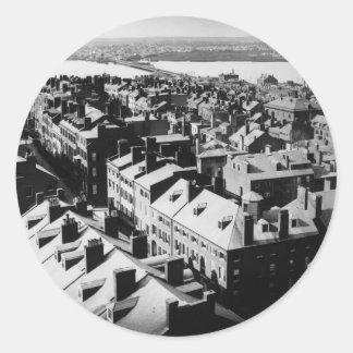 1859: The city of Boston, Massachusetts Classic Round Sticker