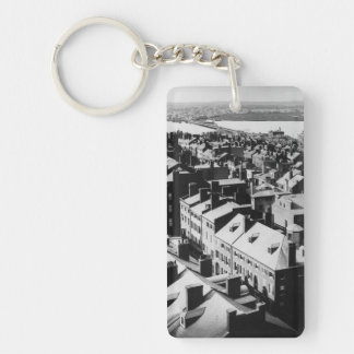 1859: The city of Boston, Massachusetts Double-Sided Rectangular Acrylic Keychain