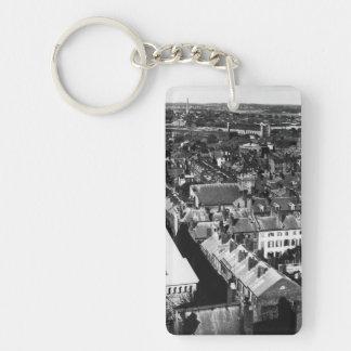 1859:  The city of Boston, Massachusetts Keychain