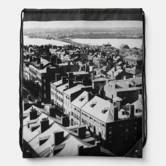 1859: The city of Boston, Massachusetts Drawstring Bags