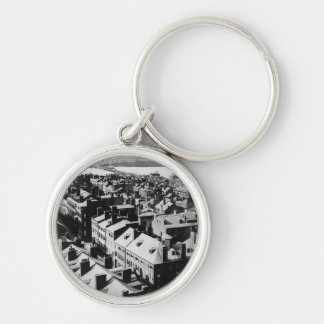 1859: The city of Boston, Massachusetts Silver-Colored Round Keychain