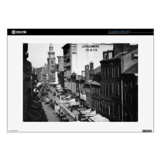1859:  Traffic and shops on Washington Street Laptop Skin