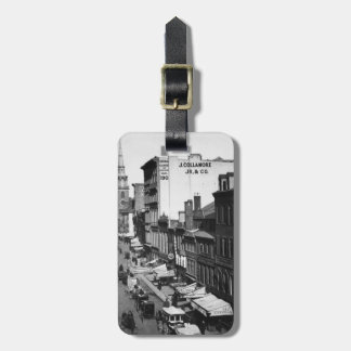1859:  Traffic and shops on Washington Street Tags For Bags