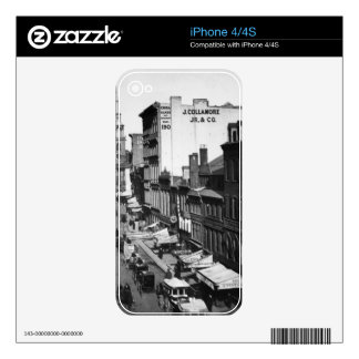 1859:  Traffic and shops on Washington Street Skins For The iPhone 4