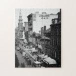 1859:  Tráfico y tiendas en la calle de Washington Rompecabeza Con Fotos