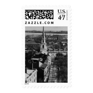 1859:  Una vista de Boston de la casa del estado Sellos
