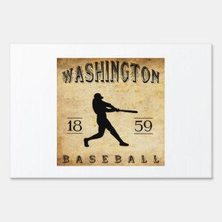 1859 Washington District Columbia Baseball Yard Sign