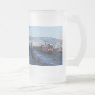 185,357 in the old station of Niederdielfen Frosted Glass Beer Mug