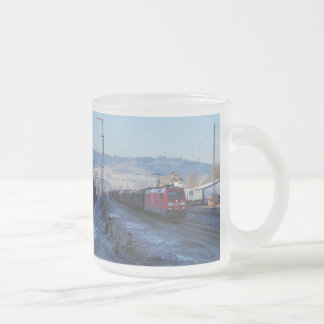 185,357 in the old station of Niederdielfen Frosted Glass Coffee Mug