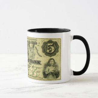 1860 Hingham Massachusetts Five Dollar Note Mug