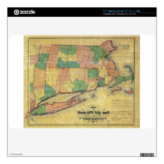 1860 map of the Shore Line Rail Road Skin For MacBook