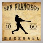1860 San Francisco California Baseball Poster