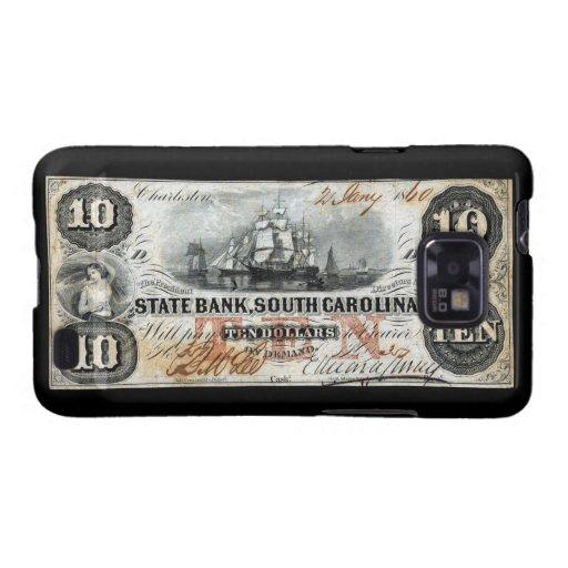 1860 South Carolina Ten Dollar Note Galaxy SII Case