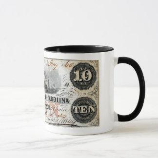 1860 South Carolina Ten Dollar Note Mug