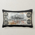 1860 South Carolina Ten Dollar Note Pillow