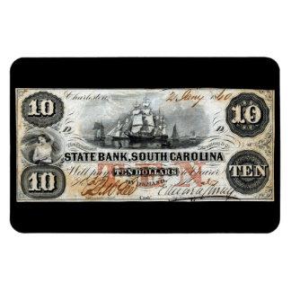 1860 South Carolina Ten Dollar Note Rectangular Photo Magnet