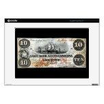 "1860 South Carolina Ten Dollar Note 15"" Laptop Decals"