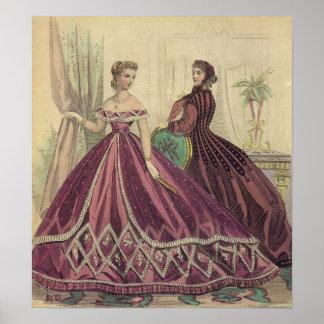 1860s Fashion Poster