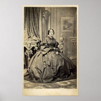 1860's hermosos de la foto del albumen CDV del Póster