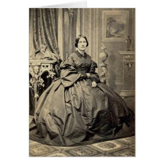1860's hermosos de la foto del albumen CDV del Tarjeta De Felicitación