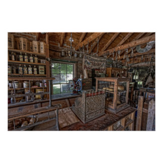 1860's OLD WEST GENERAL STORE - MONTANA Print
