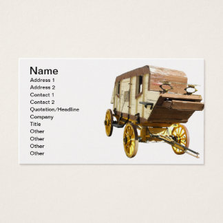 1860s Stagecoach - Denver Gold Rush Business Card
