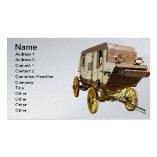 1860s Stagecoach - Denver Gold Rush Double-Sided Standard Business Cards (Pack Of 100)