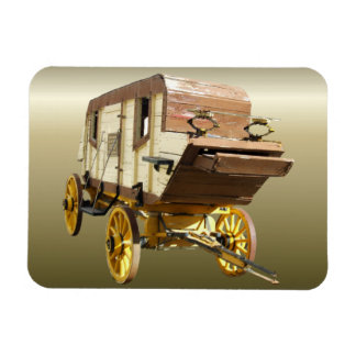 1860s Stagecoach - Denver Gold Rush Magnet