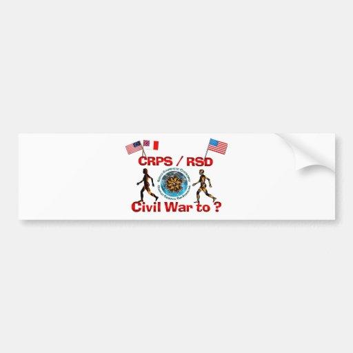 ¿1861 a? Banderas de la guerra de CRPS RSDCivil Pegatina De Parachoque
