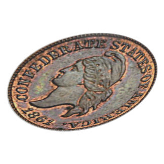 1861 Civil War USA Penny Confederate States Plate