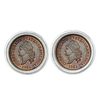 1861 Civil War USA Penny Image Cufflinks