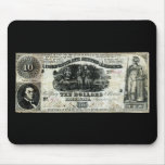 1861 Confederate Ten Dollar Note Mousepads