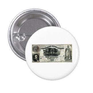 1861 Confederate Ten Dollar Note Pins