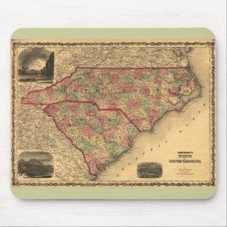 1861 North Carolina and South Carolina Map Mouse Pad