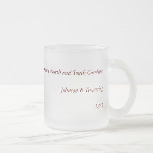 1861 North Carolina and South Carolina Map Mugs