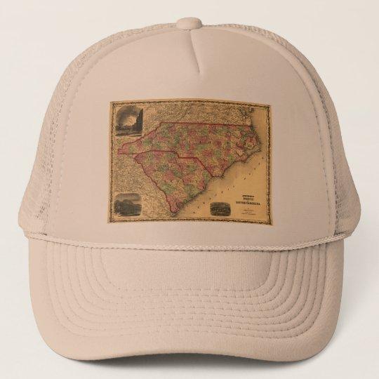 1861 North Carolina and South Carolina Map Trucker Hat