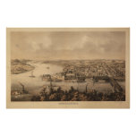 1861 Parkersburg, WV Bird's Eye View Panoramic Map Poster