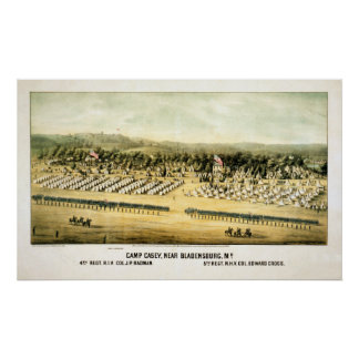 1861 View of Camp Casey, Near Bladensburg, MD Poster