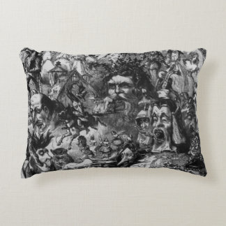 1861: 'What I Saw in the Fire'. Fairies Accent Pillow