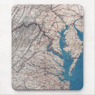 1862 Civil War Era Map of Eastern Virgina Mouse Pad