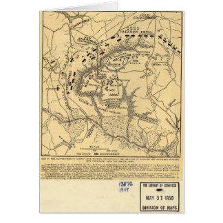 1862 Civil War Map Battlefield of Gaines's Mill Card