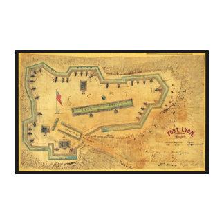 1862 Civil War Map Fort Lyon Alexandria Virginia Canvas Print