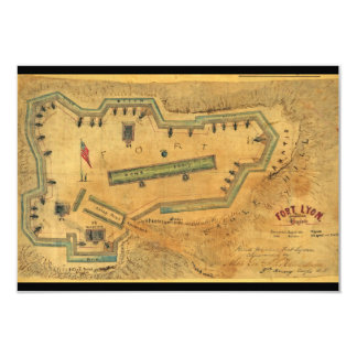 1862 Civil War Map Fort Lyon Alexandria Virginia Card