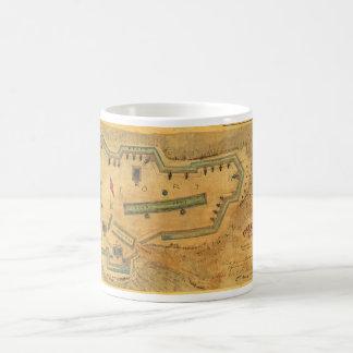 1862 Civil War Map Fort Lyon Alexandria Virginia Coffee Mug