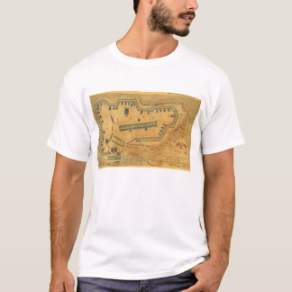 1862 Civil War Map Fort Lyon Alexandria Virginia T-Shirt